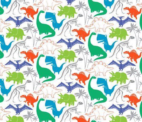 Fitted Crib Sheet In Dinosaurs White Dinosaur Nursery