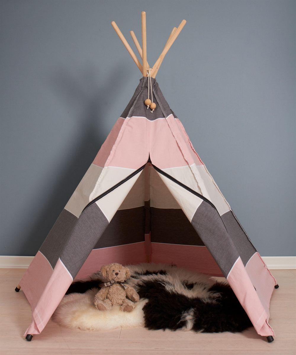 Kendte Roommate Hippie Tipi telt grå - børnetelt/legetelt - GRATIS FRAGT NZ-98