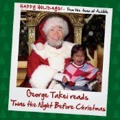 The audiobook download of 'Twas the Night Before Christmas, by Clement Clarke Moore, read by George Takei, is free from Audible.