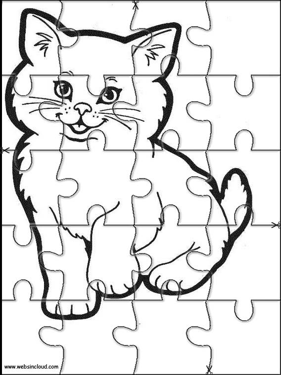 Printable Jigsaw Puzzles To Cut Out For Kids Animals 211 Coloring Pages