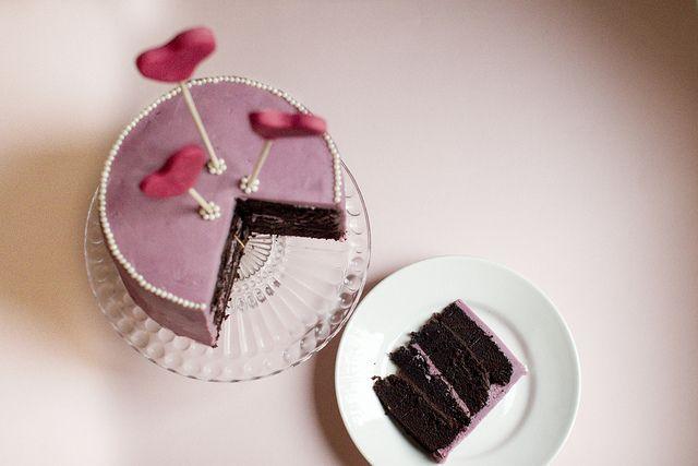 Lovely Lavendar Cake  (Valentine's chocolate cake by la_tana_dei_dolci, via Flickr)