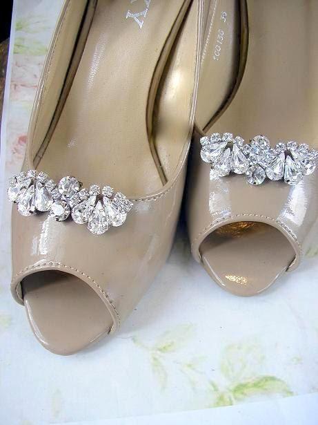 Bridal Shoe Clips Crystal Rhinestone Wedding Jewelry Vintage Style Accessories