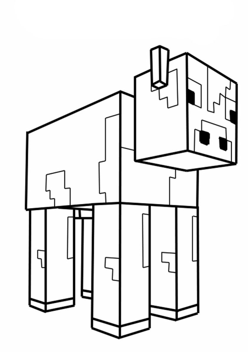 Minecraft Cow Cow Coloring Pages Minecraft Coloring Pages Minecraft Printables Free