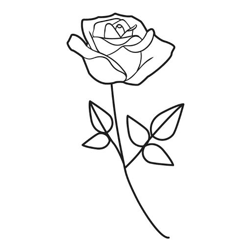 Mewarnai Gambar Setangkai Bunga Mawar Coloring Pictures Home