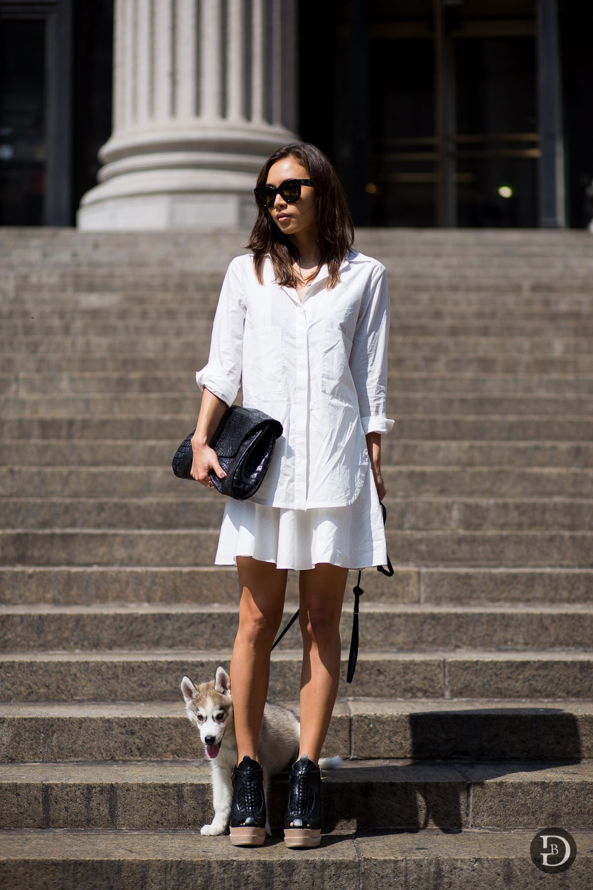 all white. #RumiNeely in NYC. #FashionToast