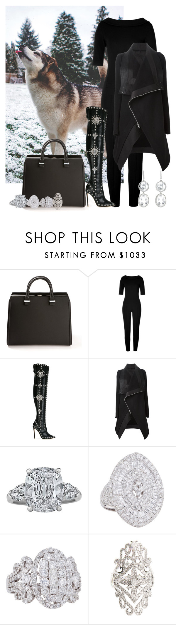 """Bez naslova #6069"" by unorthodox-1 ❤ liked on Polyvore featuring Victoria Beckham, Moschino, FAUSTO PUGLISI, Rick Owens, Graff, Elise Dray and Andrea Fohrman"