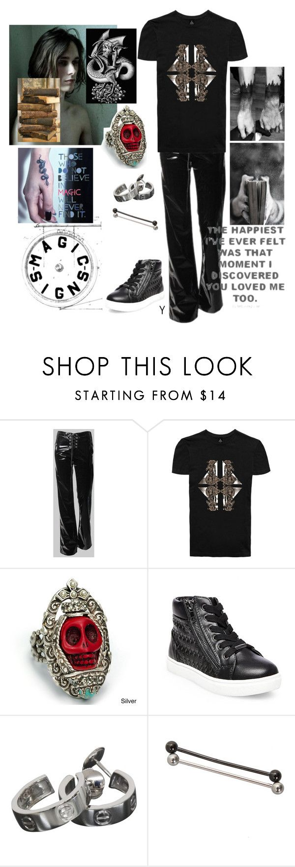 """""""Happy"""" by princeoftyre ❤ liked on Polyvore featuring Sweet Romance, Steve Madden, Cartier, men's fashion and menswear"""