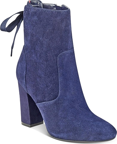 46648e520ac5 Tommy Hilfiger Women s Shoes in Dark Blue Suede Color. Tommy Hilfiger Divah  Lace-Up Booties Women s Shoes