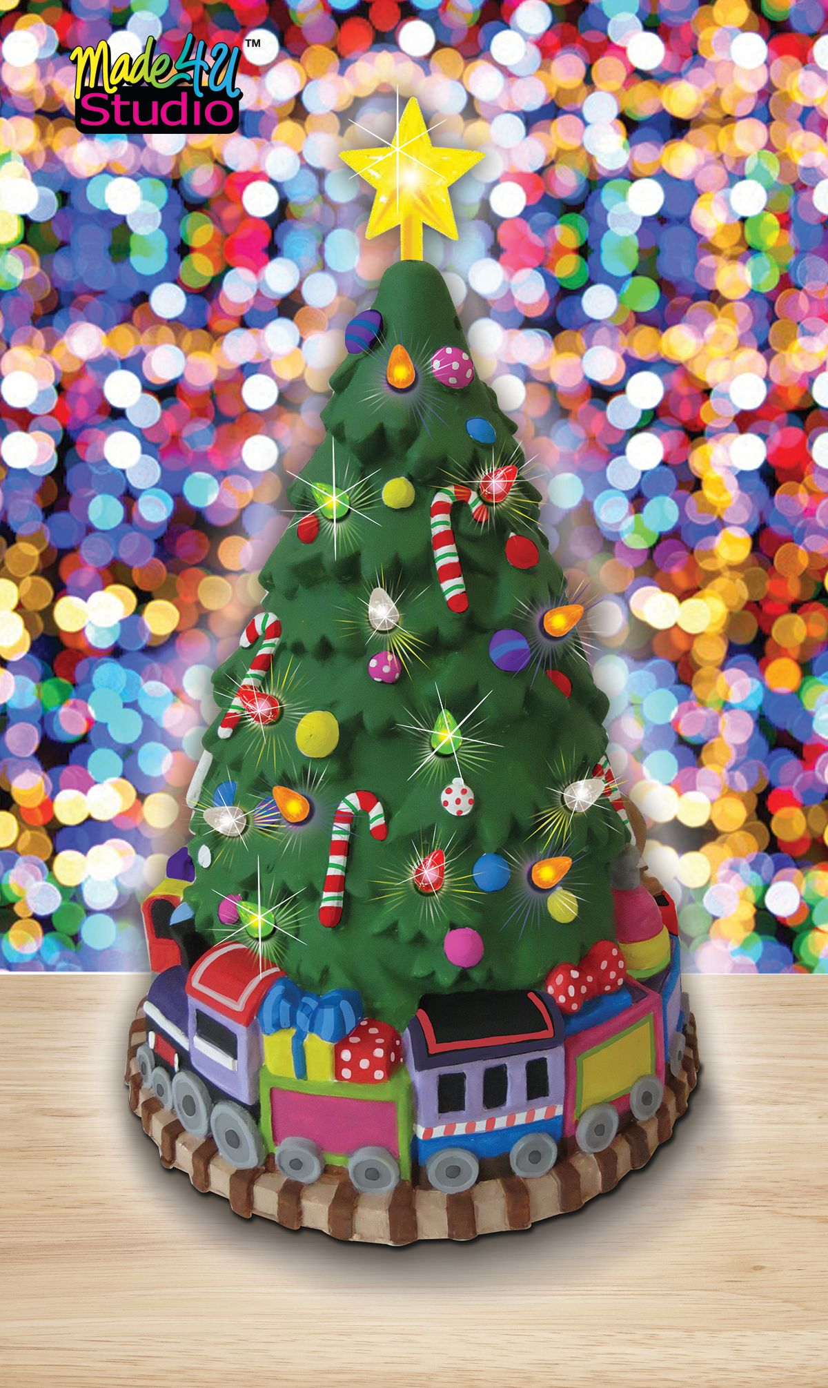 Made4U Studio Paint Your Own Light Up Christmas Tree | Holiday ...