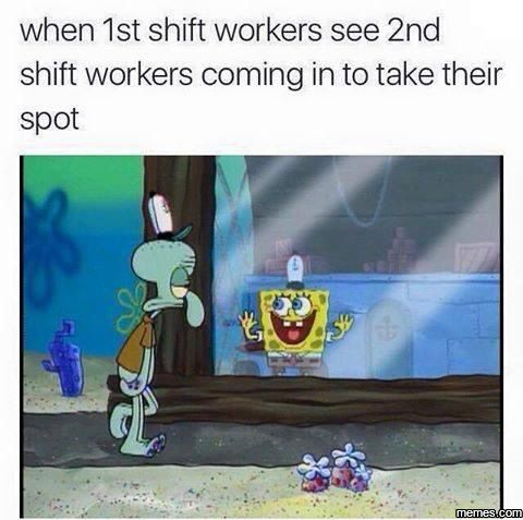 working 2nd shift