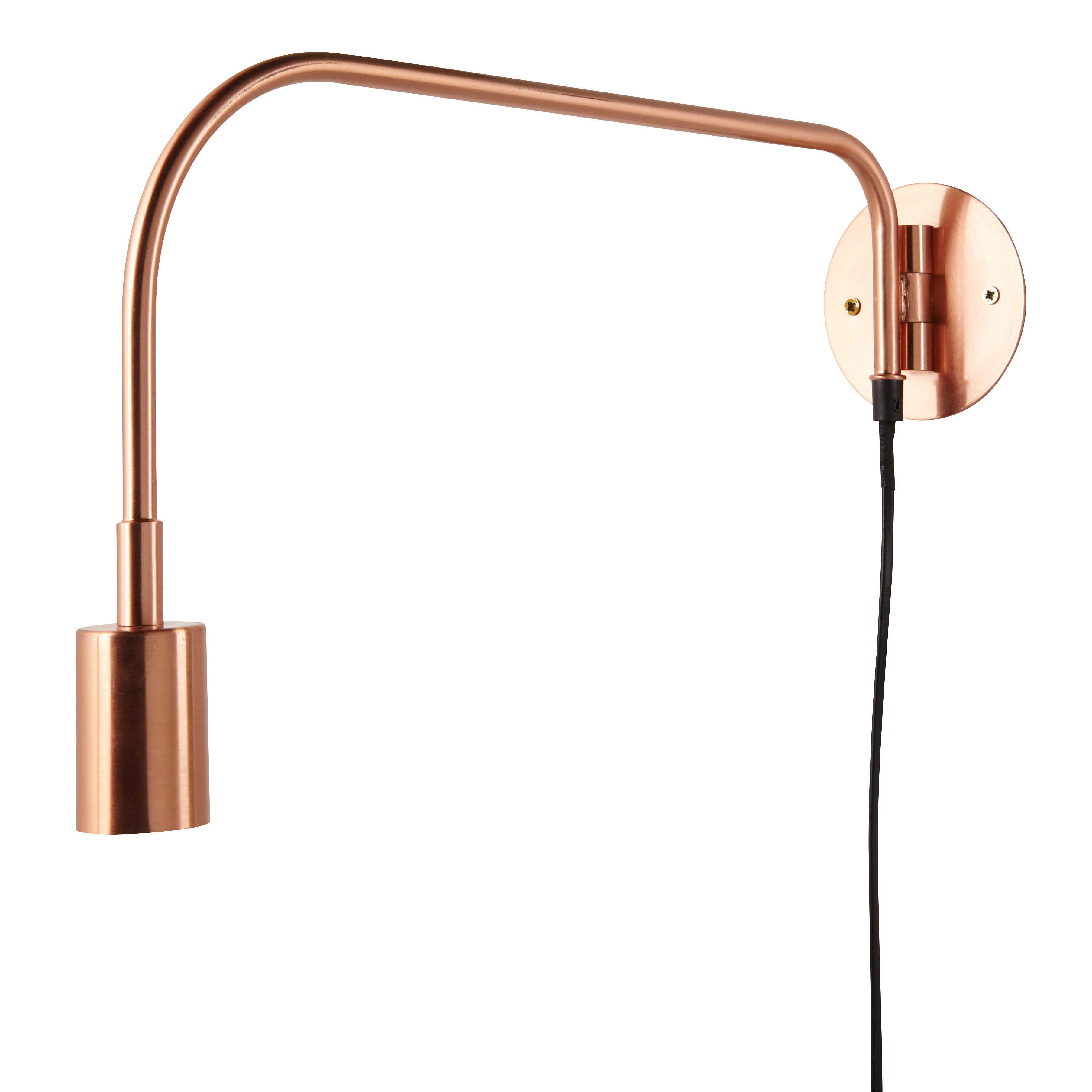 Applique Orientable En Metal Cuivre Davis Copper Eclairage Mural Tete De Lit Metal Luminaire Cuivre