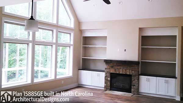 Plan 15885ge affordable gable roofed ranch home plan for Carolina plan room
