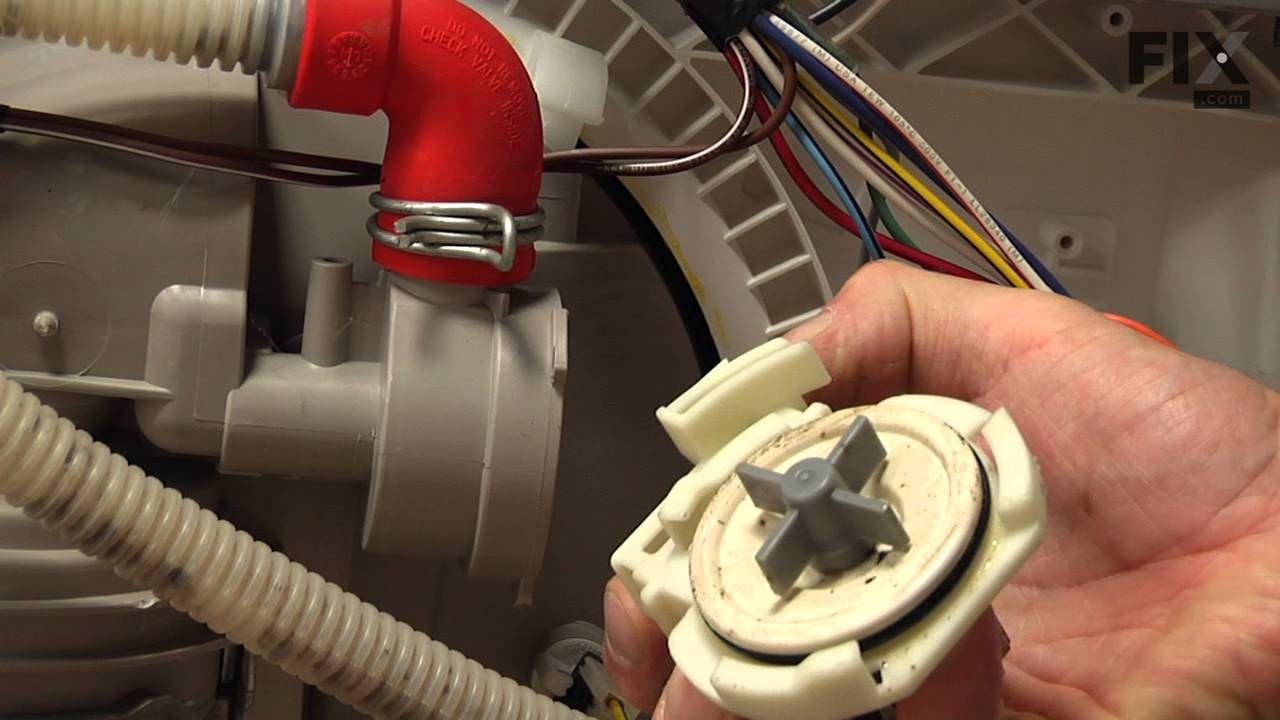 Kenmore dishwasher repair how to replace the drain pump