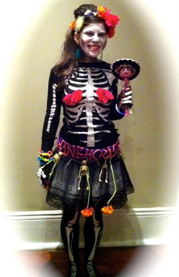 Diy Day Of The Dead Costume Miss Diy Pinterest Day Of The