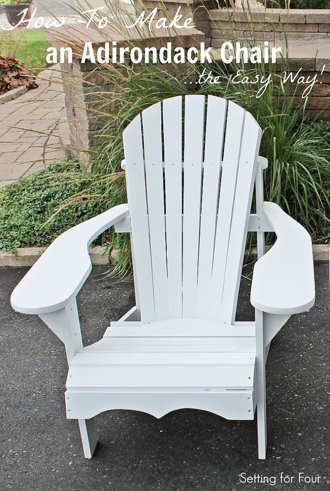 Free & Simple DIY Tutorial! How to Make an Adirondack Chair – The ...