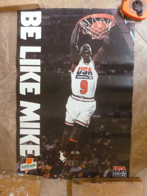 Vtg Michael Jordan Be Like Mike poster 1992 by