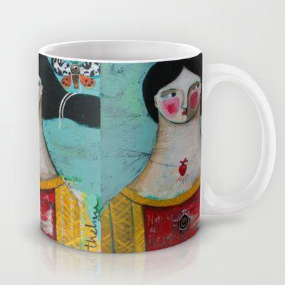 Noticias de Lejos Mug by artbythelma - $15.00