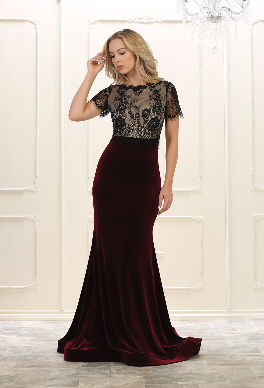Prom long formal dress velvet evening gown products pinterest