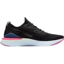 Photo of Nike Men's Epic React Flyknit 2, Size 42 Running Shoes in Black / black-Sapphire-Lime Blast, Size 42 I