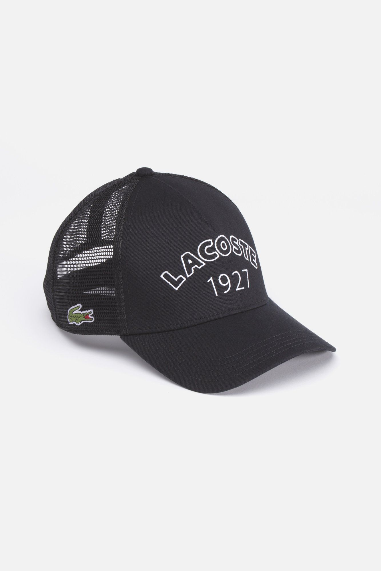 b61c3f25f4c Lacoste Men s 1927 Trucker Cap   Caps   Hats