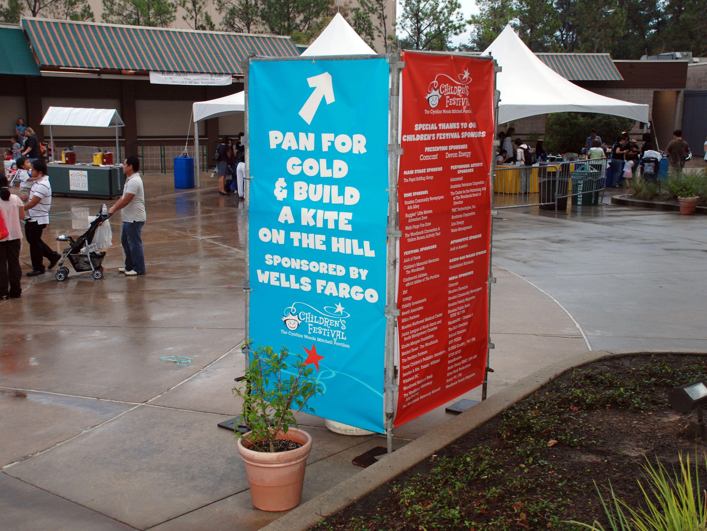 Woodlands Pavilion Children's Festival Banners | Desert Fest
