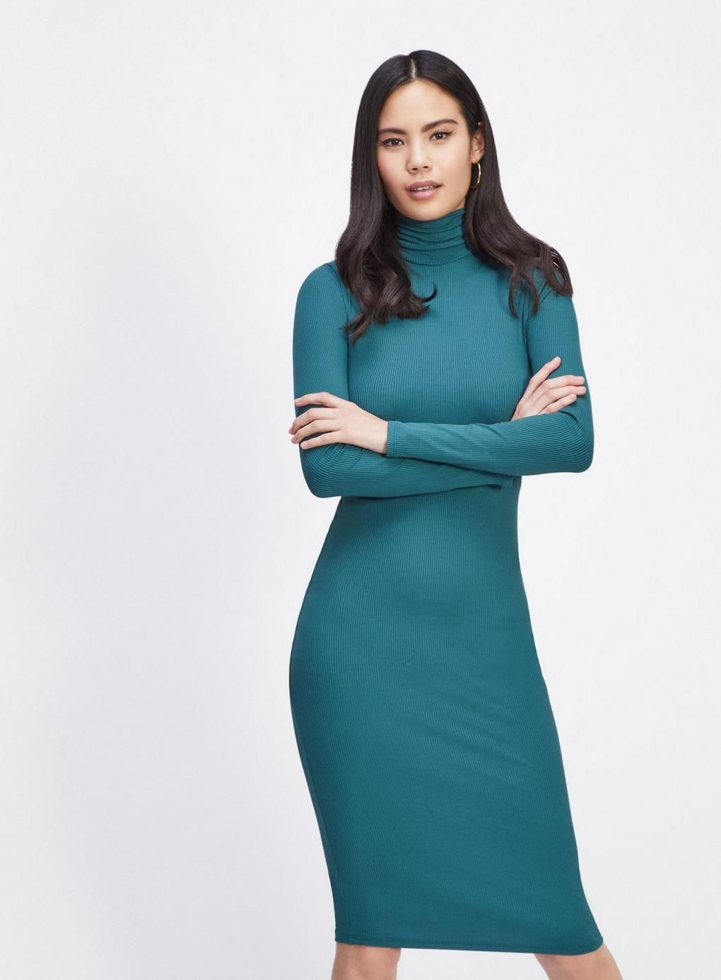 2f94f45d65bb Green High Neck Tube Midi Dress - Midi Dresses - Dress Shop - Miss Selfridge