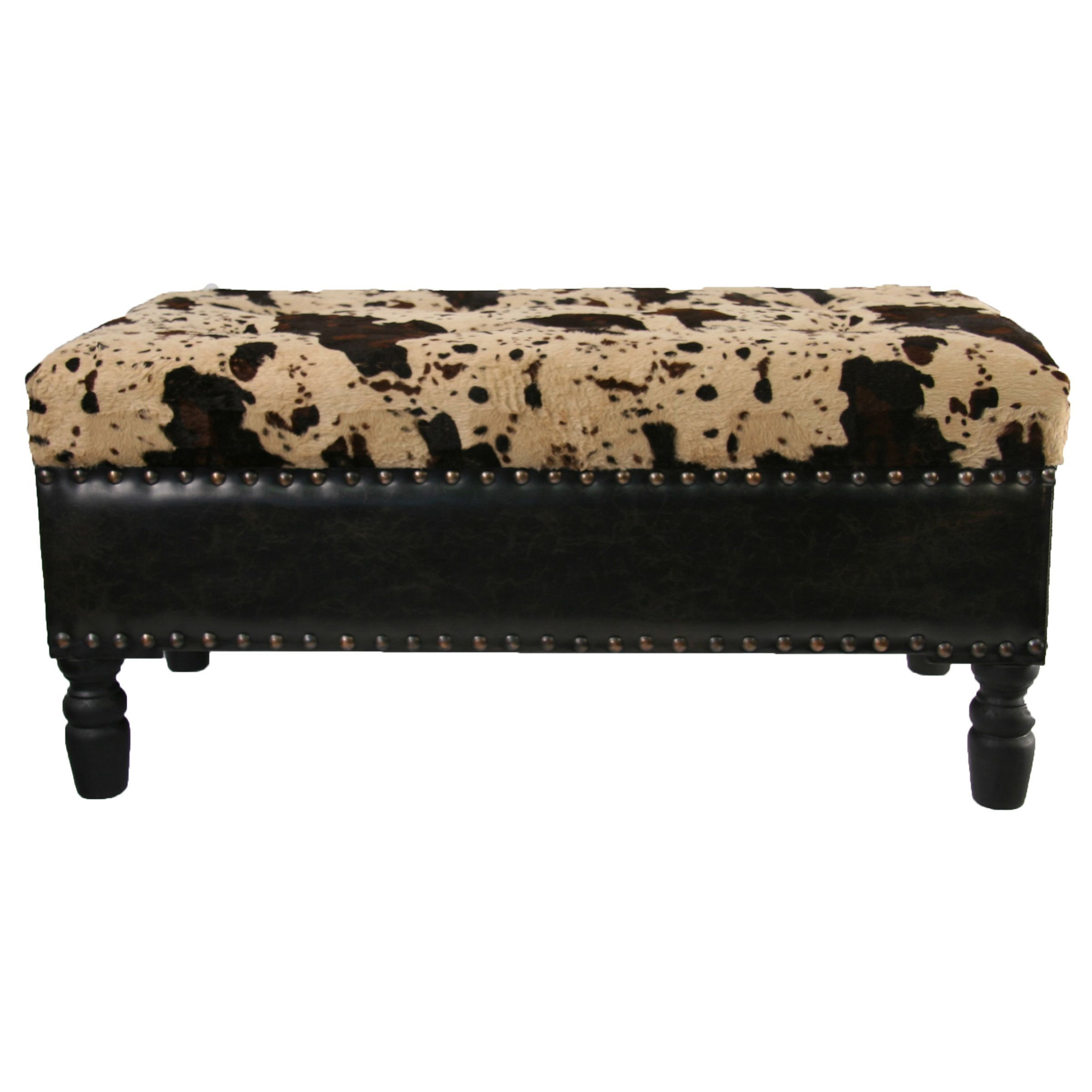 Overstock Com Online Shopping Bedding Furniture Electronics Jewelry Clothing More Faux Cowhide Leather Storage Bench Ranch House Decor