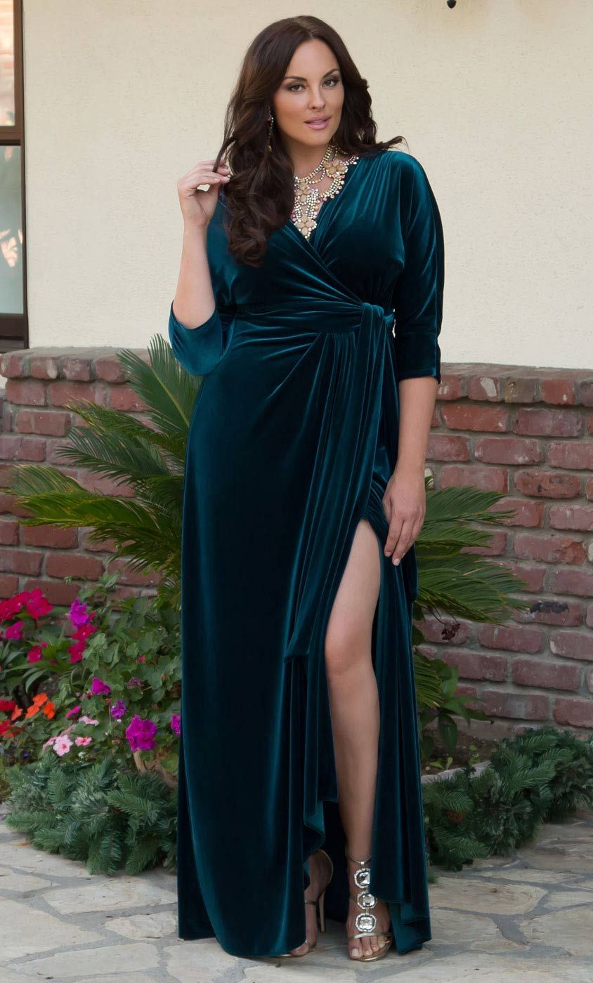 Go glam for the holidays in our luxurious plus size Velvet Luxe Wrap Dress.  www.kiyonna.com  KiyonnaPlusYou  MadeintheUSA  OOTD  HolidayAttire  Formal a66cf1efe3ce