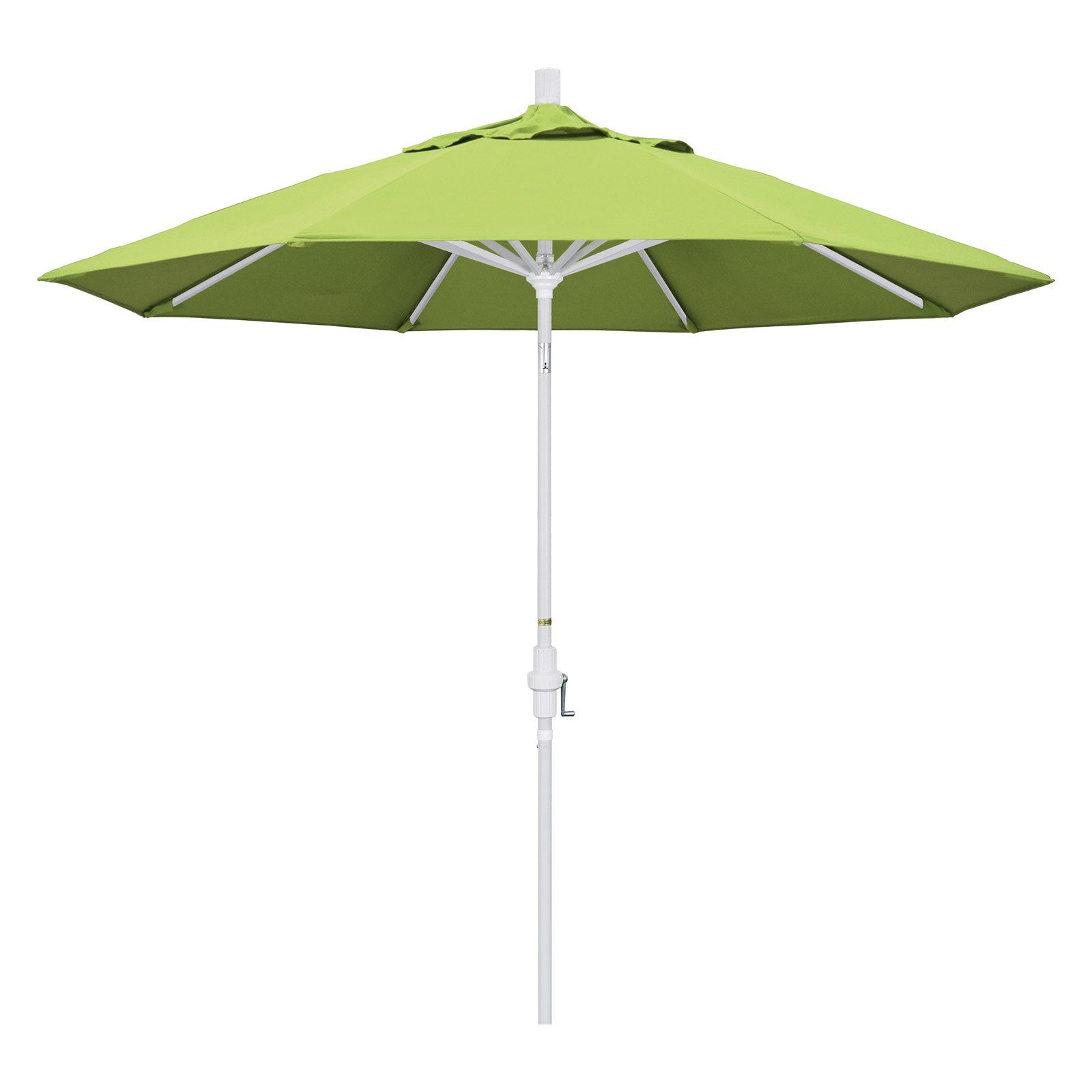 California Umbrella 9 Ft Sunbrella Aluminum Single Vent Tilt