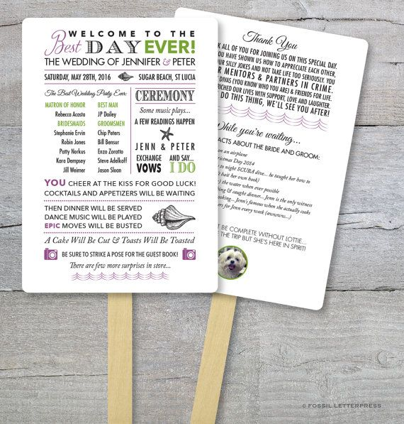 Beach Wedding Fan, Beach Wedding, Best Day Ever, Order Of