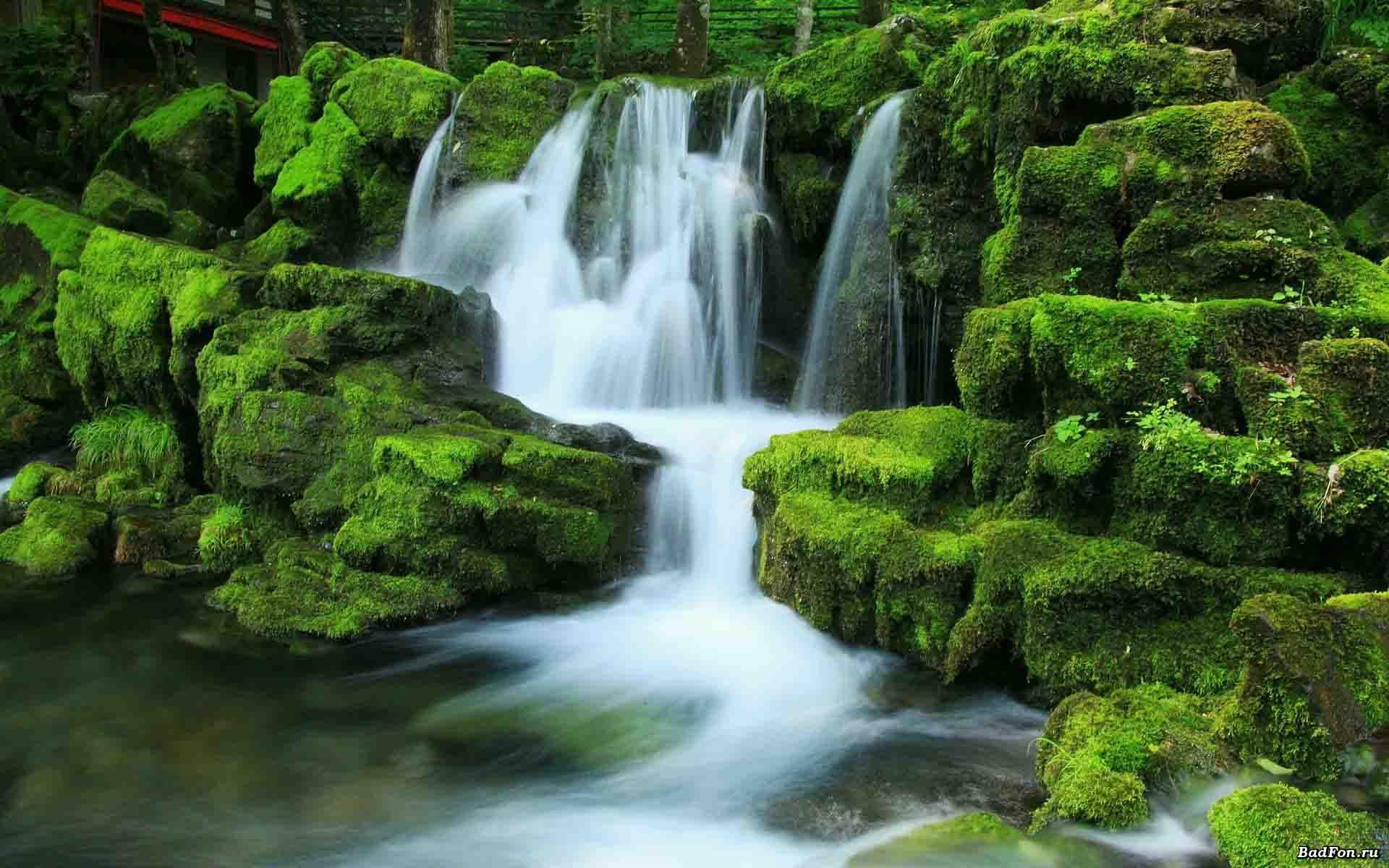 Waterfall River Landscape Nature Waterfalls Wallpaper X