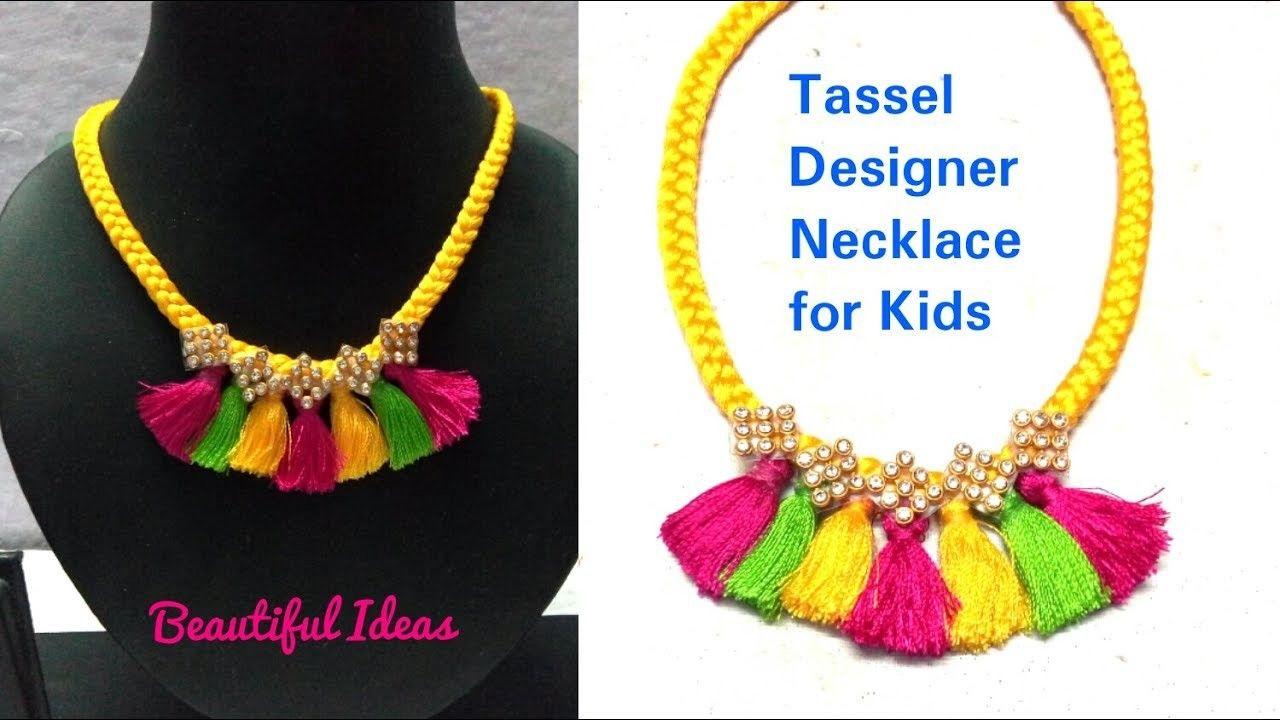 Tassel Designer NecklaceHow to Make silk thread Tassel Designer