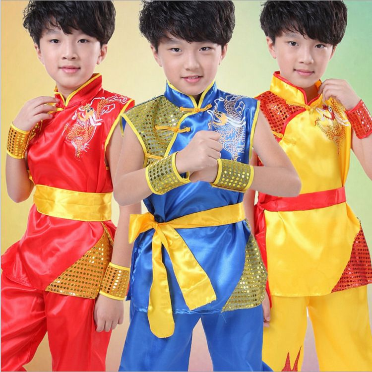 Boy Tae Kwon Do Kids Wushu Boy Chinese Traditional Clothing China Kungfu  Suit Kung Fu Uniforms For Boys China Kungfu Costumes 0835a67f973b