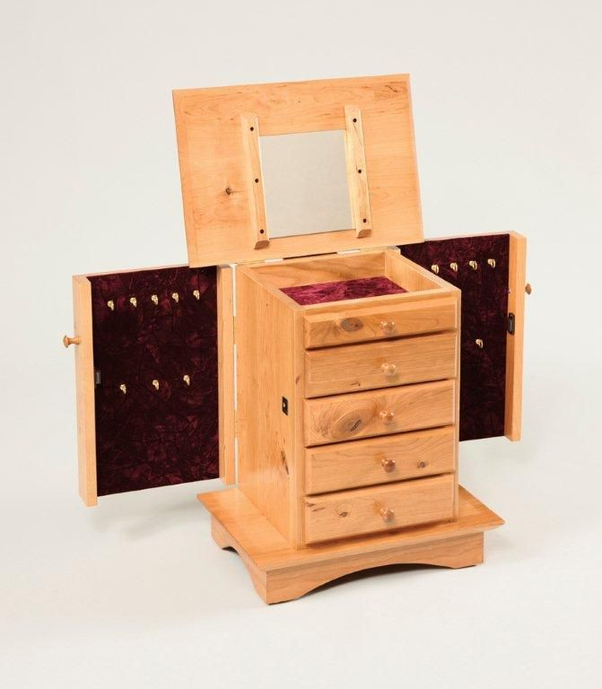Amish Lachine Shaker Dresser Top Jewelry Box | Jewelry box ...