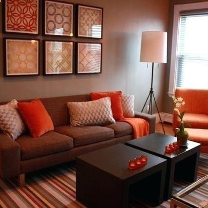 Rot und Braun Wohnzimmer Innenarchitektur 2018 Pinterest - Wohnzimmer Grau Orange