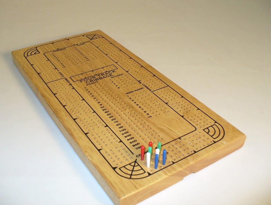 4 Track Cribbage Cribbage board, Cribbage, Wood cribbage