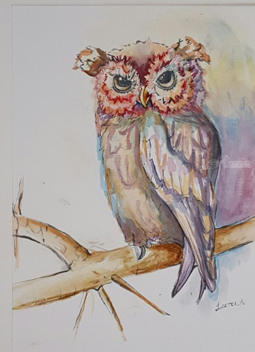 Watercolor artists names - Title Owl Always Love You Artist Name Defined By Art With Lauren