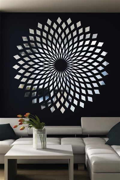 Enchant Your Guests With The Optical Illusions Created By Our Forever Diamonds Reflective Mirror Decal Visit Ou Decal Wall Art Mirror Decal Starburst Wall Art