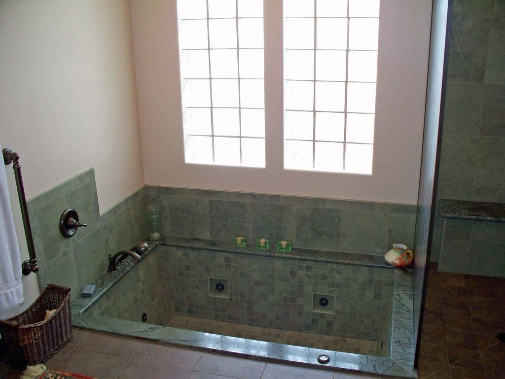 sunken bathtub ideas | Custom Step-in Whirlpool Tub | Dream House ...