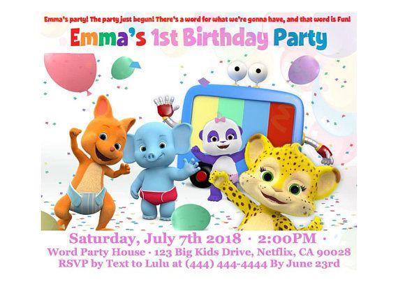 Word party birthday invitation custom word party birthday party word party birthday invitation custom word party birthday party invite digital printable word stopboris Image collections