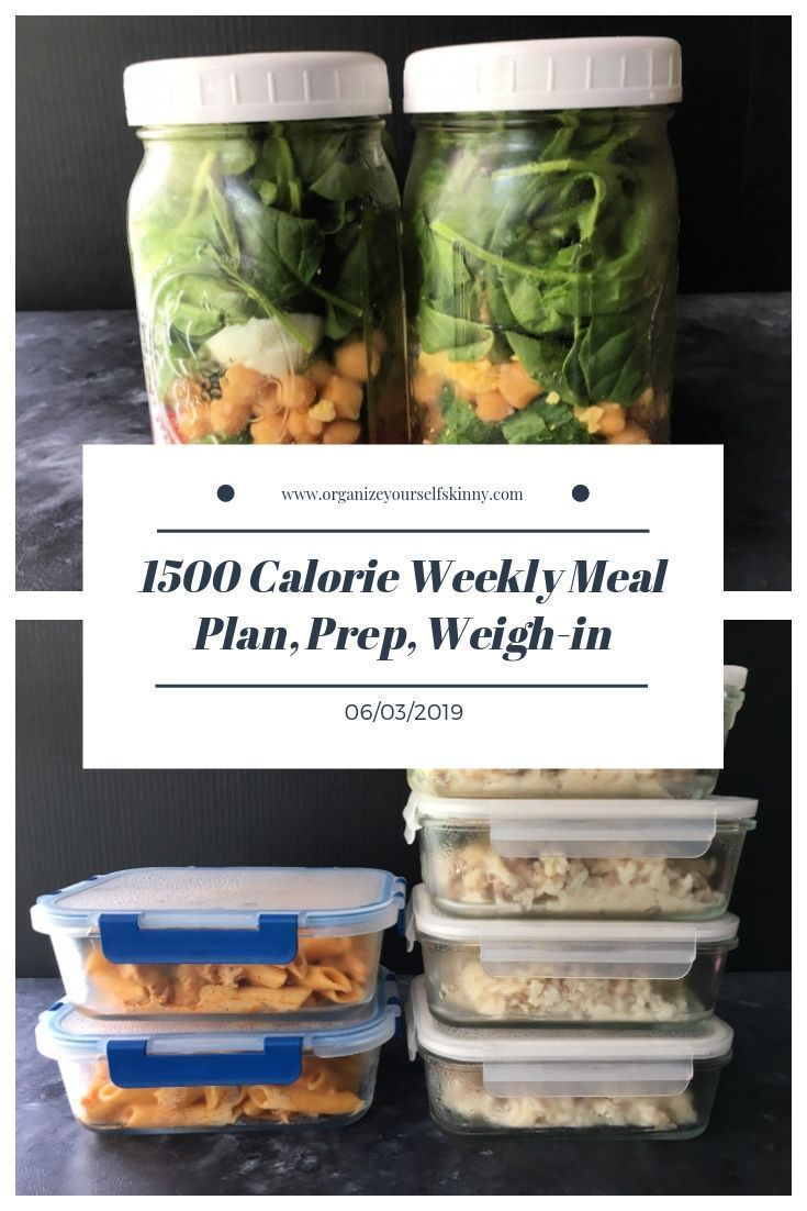 1500 Calorie Weekly Meal Plan, Food Prep, and Weigh-in {June 3rd, 2019} images