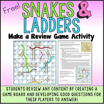Snakes and Ladders Review Game Make A Game Activity to