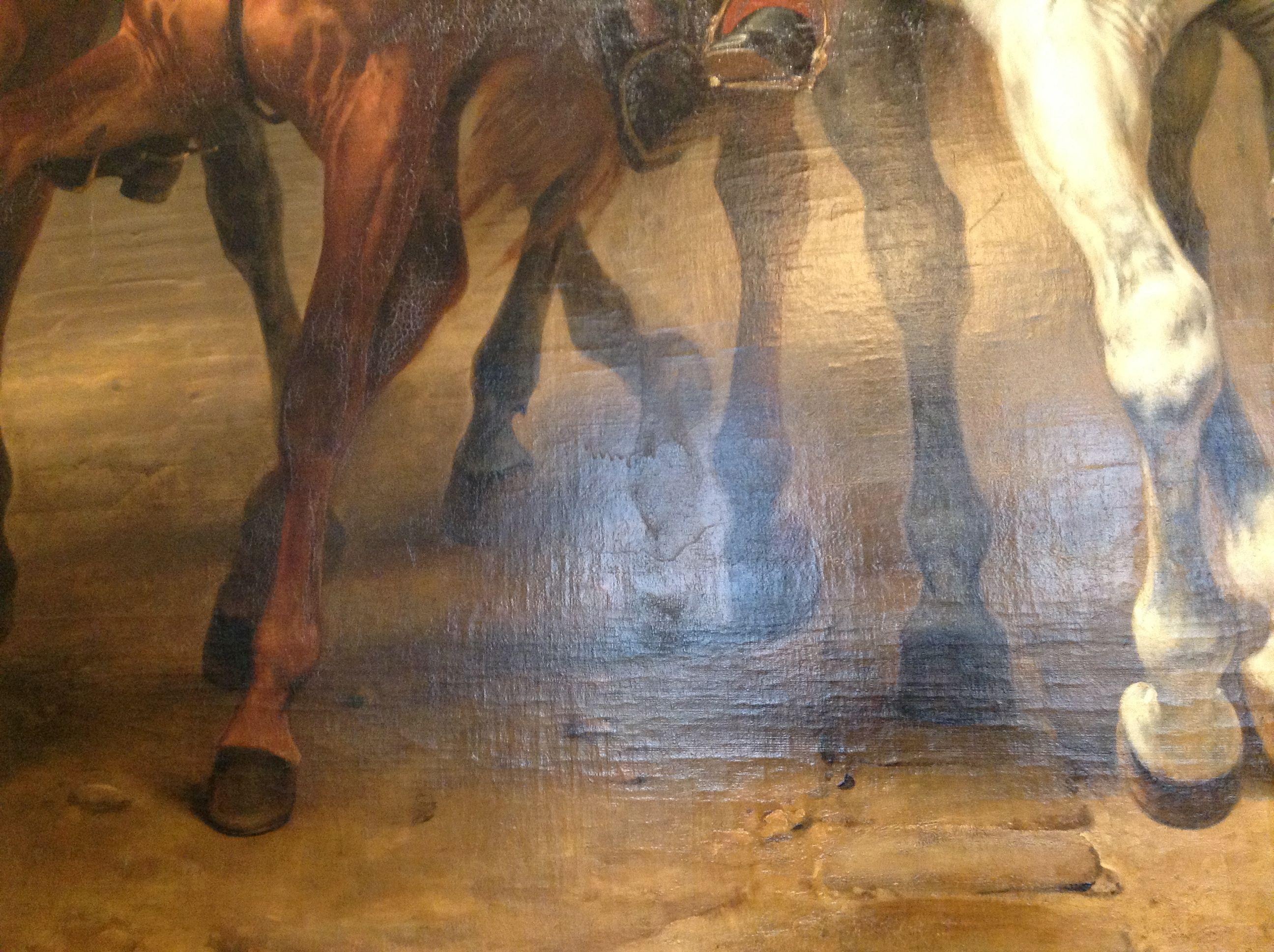 A painting in Versailles. See the phantom hoof? It was
