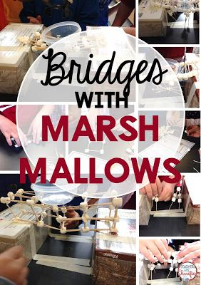 STEM Challenge: Build a bridge with the easiest of materials- marshmallows! It's such a fun building time and will have your kids working and engaged!
