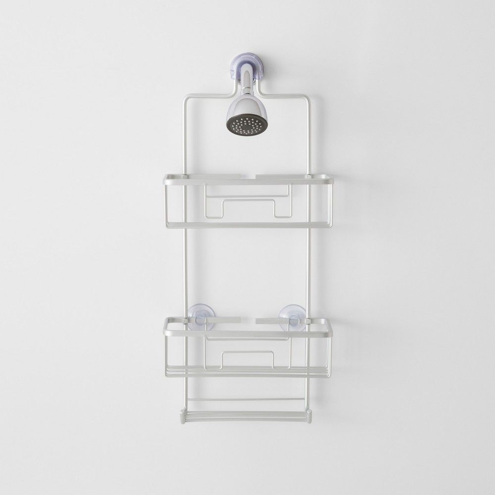 Large Rustproof Shower Caddy With Lock Top Gray Made By Design Shower Caddy Bathroom Caddy Made By Design