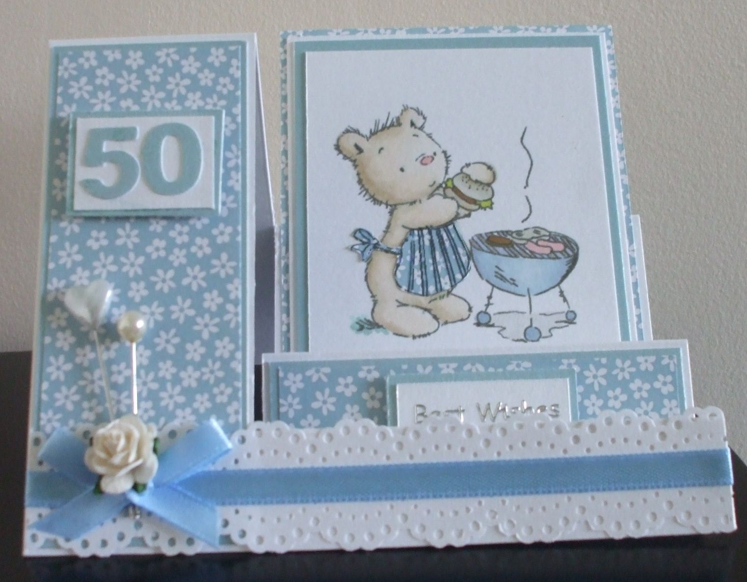 Handmade th birthday card digistamp boutique image stepper