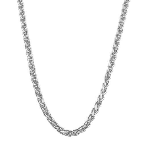 14 Karat White Gold 1 3 Mm Round Wheat Chain 16 Inch Kooljewelry 170 99 An Essential Piece By Its White Gold Necklace Chain Casual Necklaces Jewelry Deals
