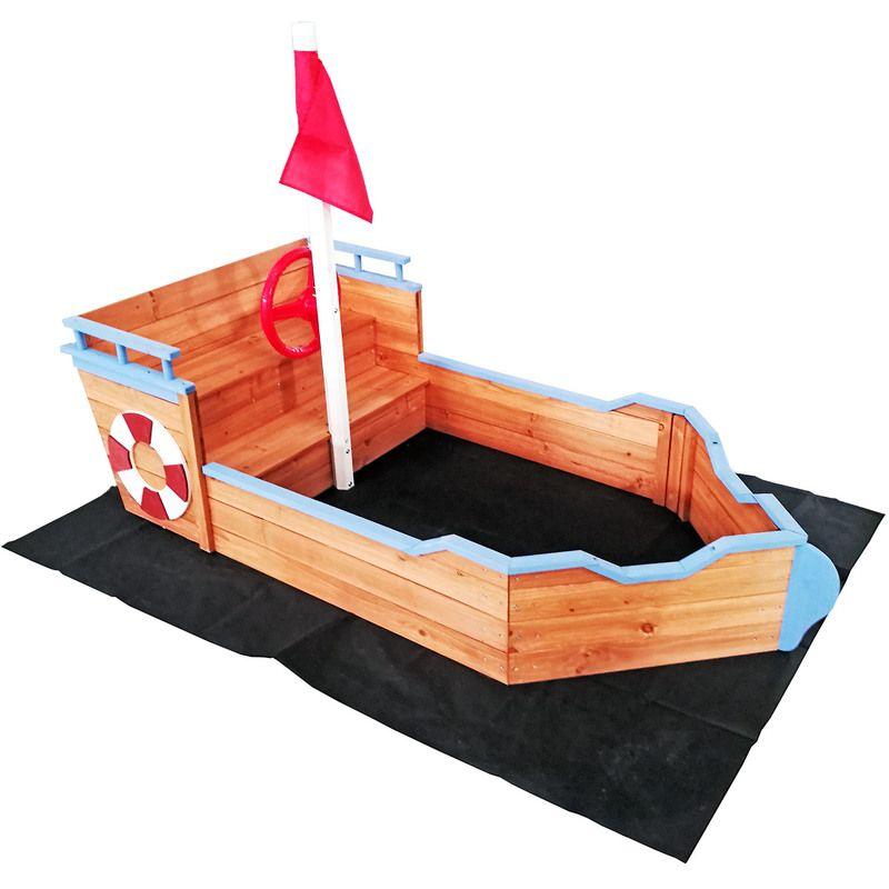 Photo of Bote de arena para niños con banco 160x78x85cm piso no tejido de madera arenero de madera al aire libre – 51830