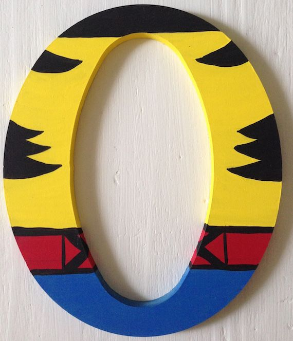 Wolverine Superhero Wooden Letters Wall Decor | Wooden Superhero ...