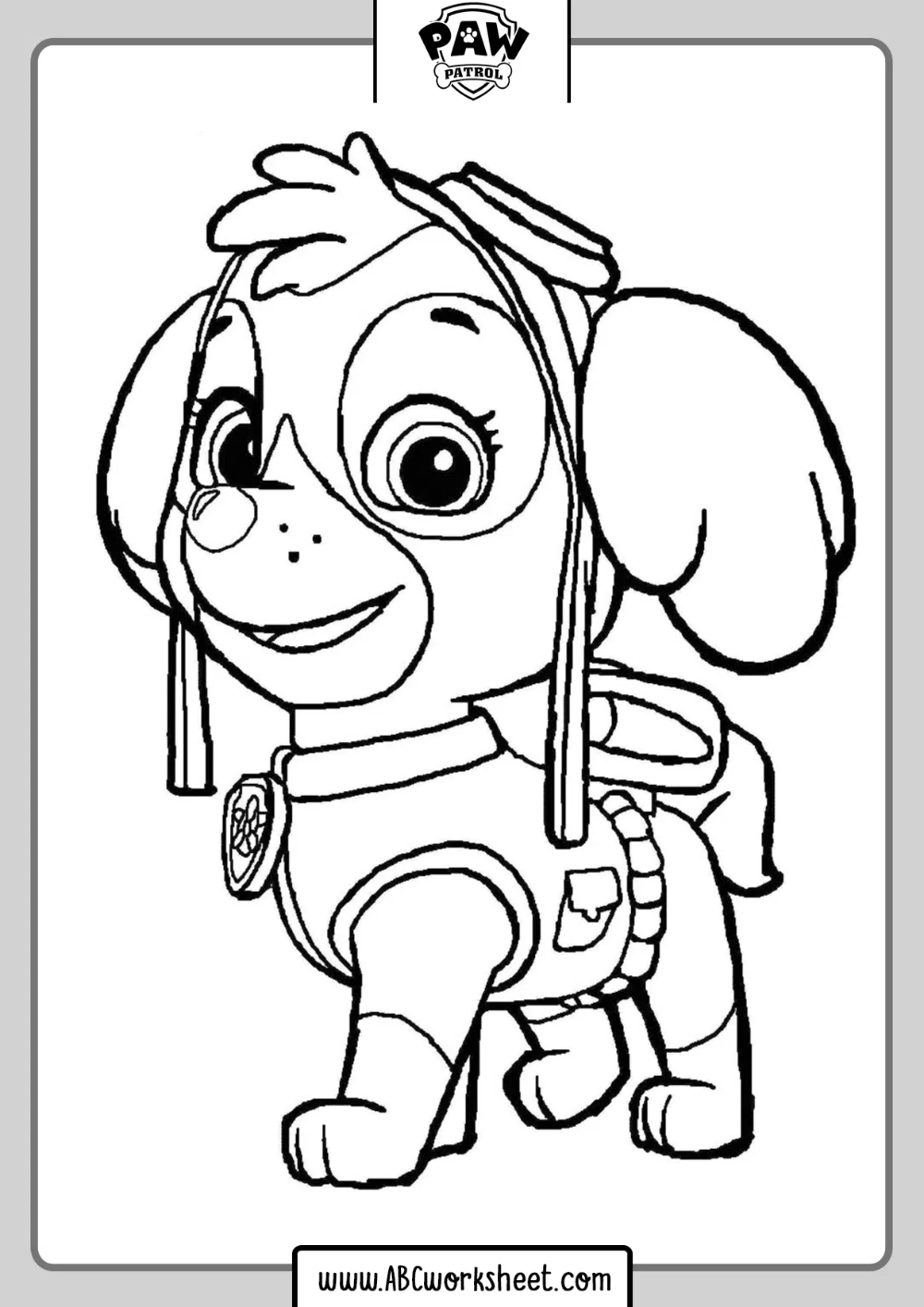 Coloring Pages Paw Patrol Paw Patrol Coloring Pages Paw Patrol Coloring Skye Paw Patrol